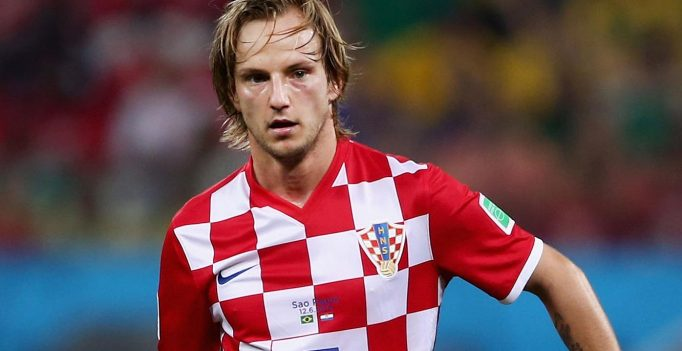 SAO PAULO, BRAZIL - JUNE 12:  Ivan Rakitic of Croatia in action during the 2014 FIFA World Cup Brazil Group A match between Brazil and Croatia at Arena de Sao Paulo on June 12, 2014 in Sao Paulo, Brazil.  (Photo by Warren Little/Getty Images)