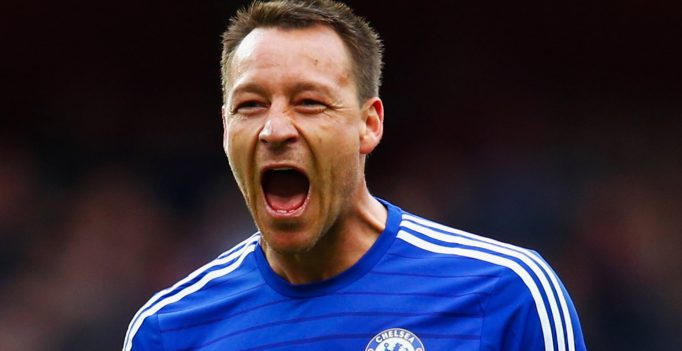 LONDON, ENGLAND - APRIL 26:  John Terry of Chelsea celebrates after the Barclays Premier League match between Arsenal and Chelsea at Emirates Stadium on April 26, 2015 in London, England.  (Photo by Julian Finney/Getty Images)