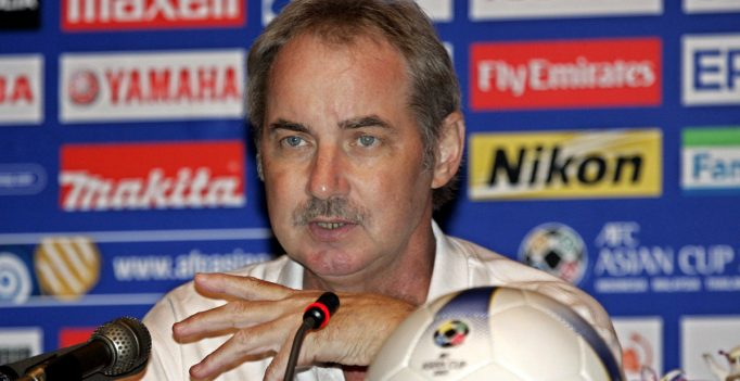 Vietnam's coach Alfred Riedl  speaks during a news conference in  Hanoi, Sunday, July 15, 2007.  Vietnam will  play against Japan in Asian Cup soccer game on Monday in Hanoi.   (AP Photo/Chitose Suzuki)