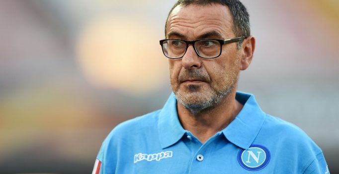 NAPLES, ITALY - SEPTEMBER 17:  Napoli's coach Maurizio Sarri looks on during the UEFA Europa League match between Napoli and Club Brugge KV on September 17, 2015 in Naples, Italy.  (Photo by Francesco Pecoraro/Getty Images)
