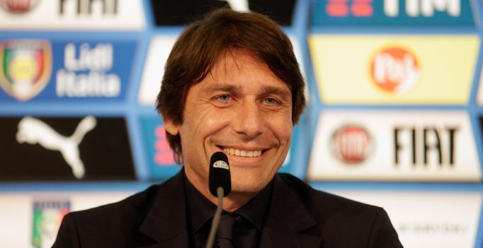 MUNICH, GERMANY - MARCH 28:  Antonio Conte, head coach of Italy addresses the media ahead of the international friendly match between Germany and Italy at Allianz Arena on March 28, 2016 in Munich, Germany.  (Photo by Johannes Simon/Bongarts/Getty Images)