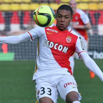Kylian Mbappe Lottin of Monaco during the French L1 soccer match between AS Monaco and Toulouse, on January 24, 2016 at Louis II stadium, in Monaco. MONACO - 24/01/2016/BEBERT_2401_023/Credit:BEBERT BRUNO/SIPA/1601242158