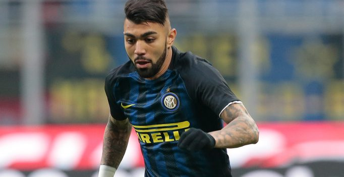 MILAN, ITALY - FEBRUARY 12: Gabriel Barbosa of FC Internazionale Milano in action during the Serie A match between FC Internazionale and Empoli FC at Stadio Giuseppe Meazza on February 12, 2017 in Milan, Italy.  (Photo by Emilio Andreoli/Getty Images)